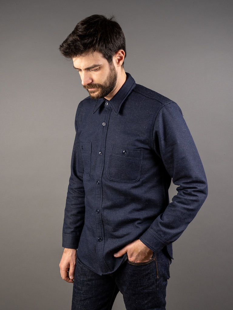 muller and bros wool syndicate work shirt side