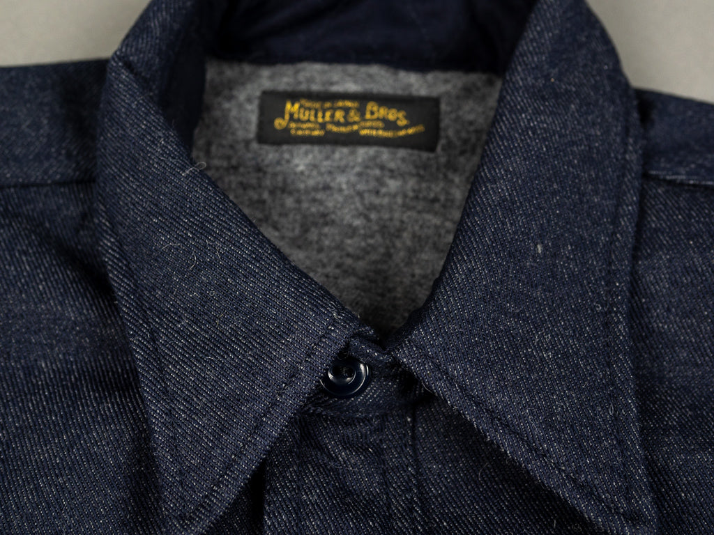 muller and bros wool syndicate work shirt label