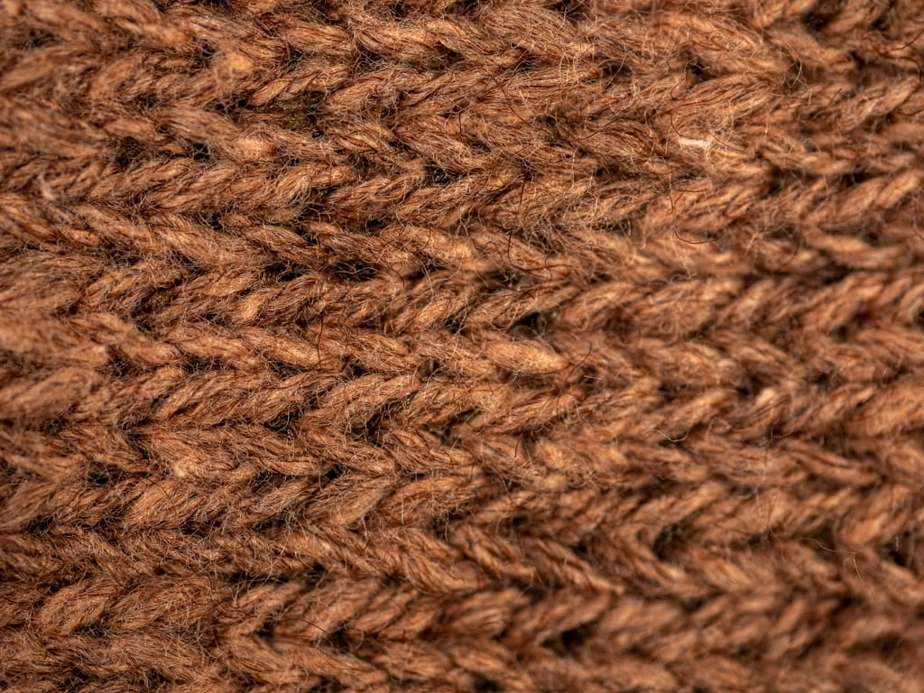 Nishiguchi Kutsushita Wool Cotton Slab winter Socks Brown