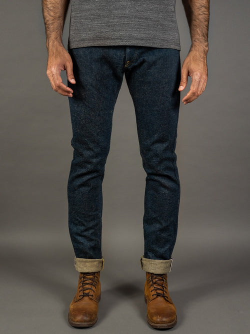 oni denim secret denim jeans high rise relax tapered  natural indigo