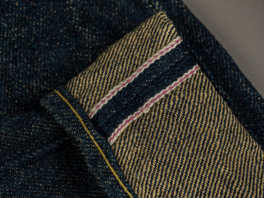 oni denim secret denim jeans pink selvedge
