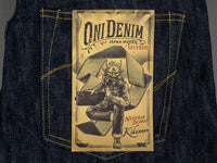ONI Denim 245 Natural Indigo Kihannen Jeans label