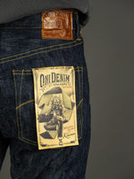 ONI Denim 245 Natural Indigo Kihannen Jeans artwork label