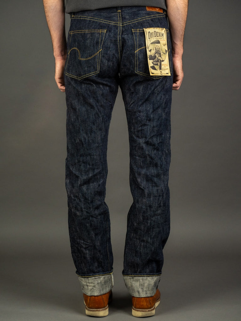 ONI Denim 245 Natural Indigo Kihannen Jeans back