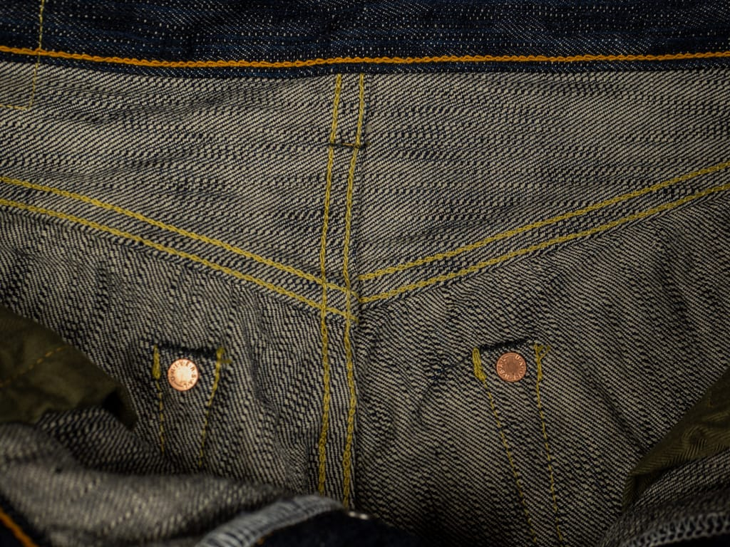 ONI Denim 245 Natural Indigo Kihannen Jeans interior