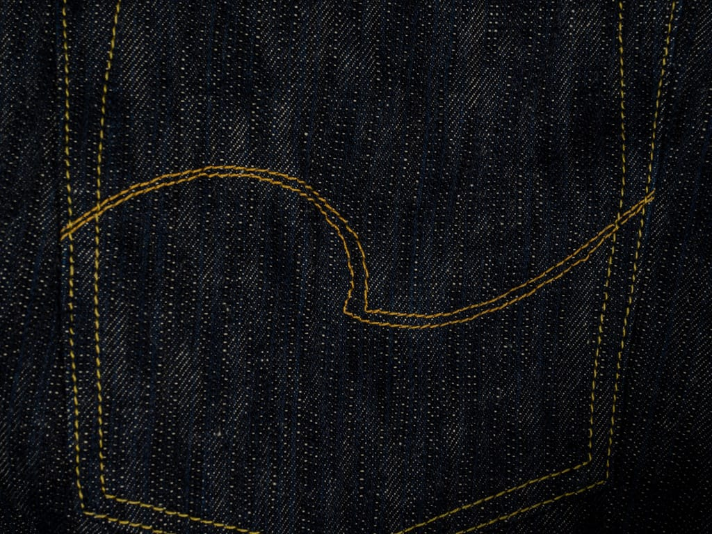 ONI Denim 245 Natural Indigo Kihannen Jeans pocket stitching