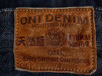 ONI Denim Kase Jeans vegetable tanned leather patch