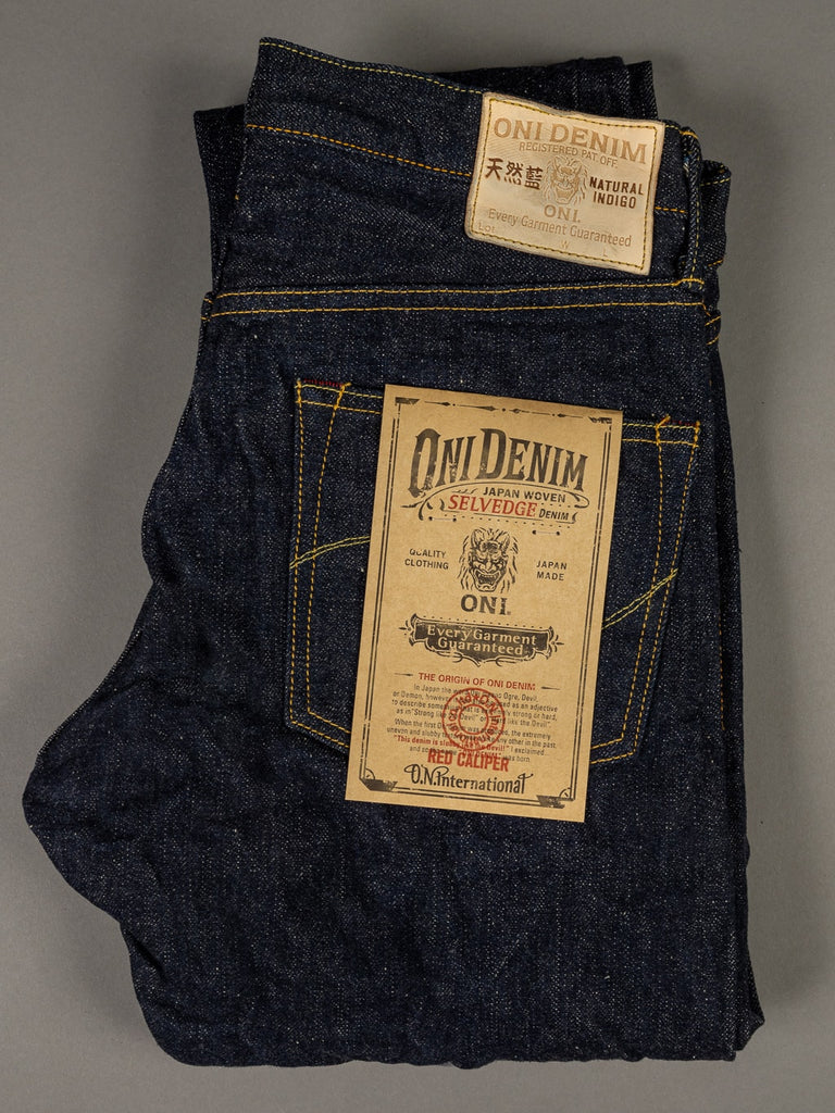 oni denim 622 red caliper jeans back pocket