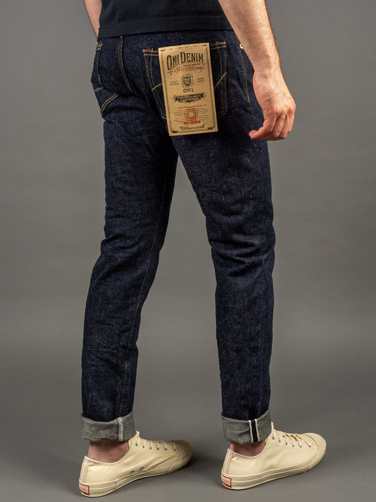 oni denim 622 red caliper jeans natural indigo