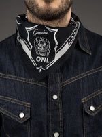 oni denim branded bandana black