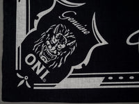 oni denim branded bandana black detail