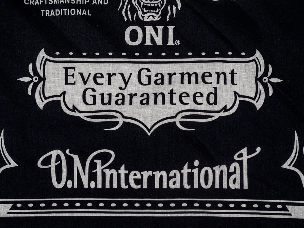 oni branded bandana black