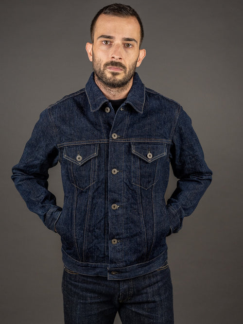 "ONI Denim 02527P ""Kiwami"" 16oz Natural Indigo Type III Jacket"