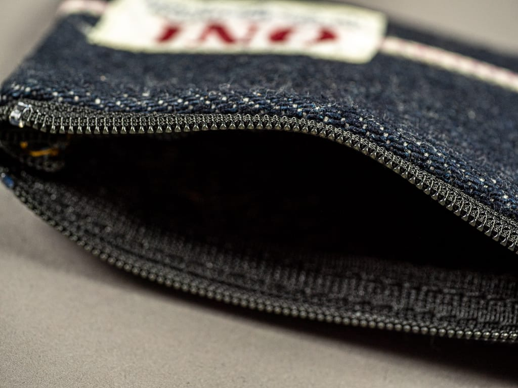 ONI Denim Selvedge Coin Pouch zip