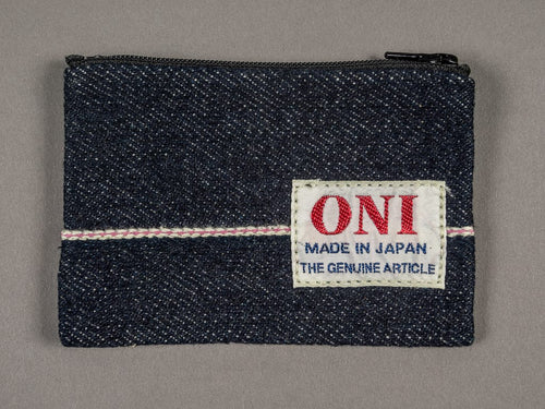 ONI Denim pink Selvedge Coin Pouch