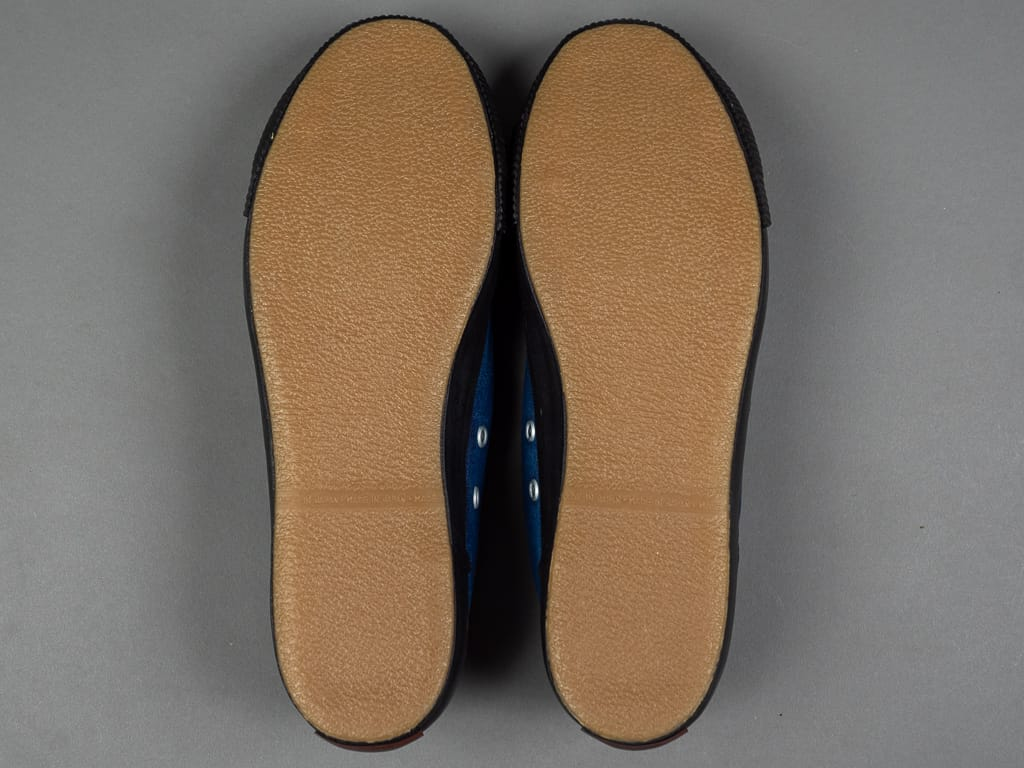 Pras Shellcap Low Indigo Hand Dyed Sneakers anti slipper sole