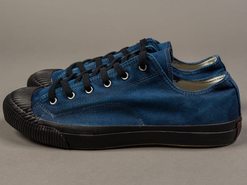 Pras Shellcap Low Indigo Hand Dyed Sneakers side