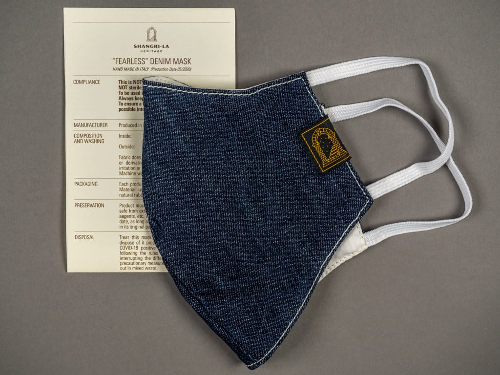 "Shangri-La Heritage ""Fearless"" Denim Mask"