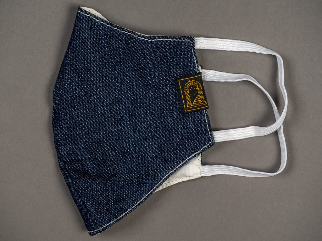 "Shangri-La Heritage ""Fearless"" Denim Mask reusable straps"
