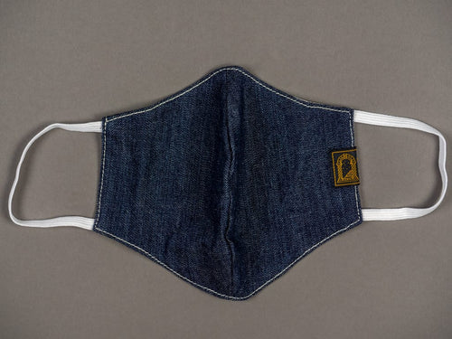 "Shangri-La Heritage ""Fearless"" Denim Mask indigo washable reusable"