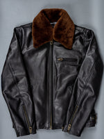 "Shangri-La Heritage ""Varenne"" Black Leather Jacket"