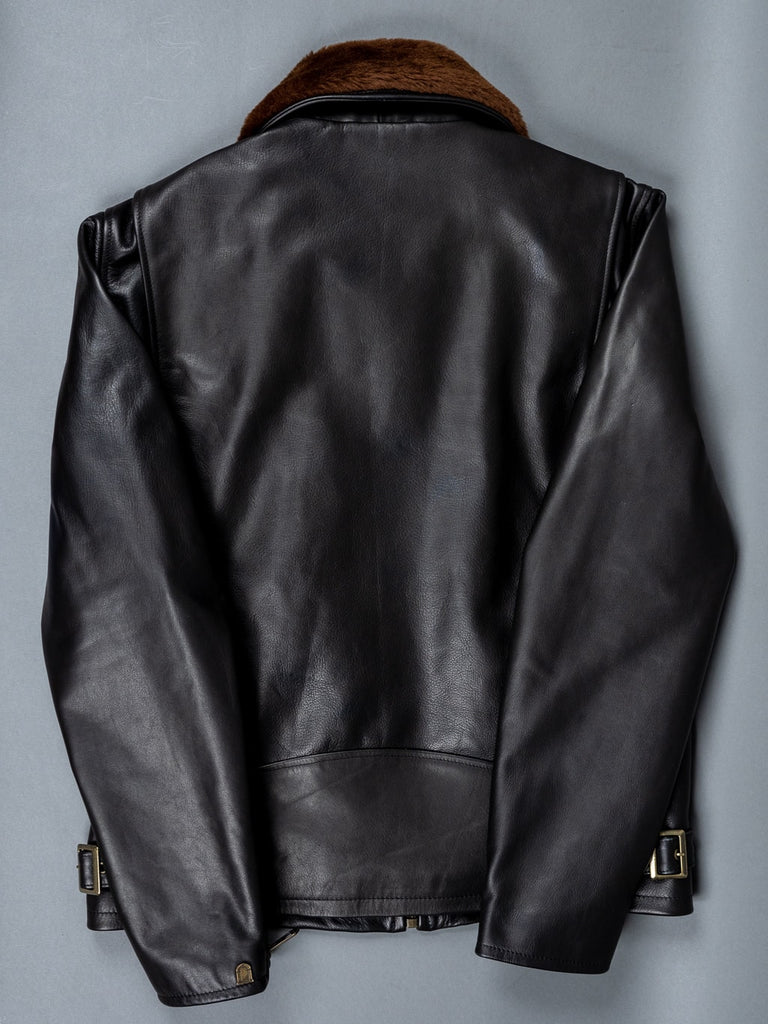 "Shangri-La Heritage ""Varenne"" Black Leather Jacket back"