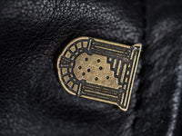 "Shangri-La Heritage ""Varenne"" Fur Collar Black Leather Jacket logo"