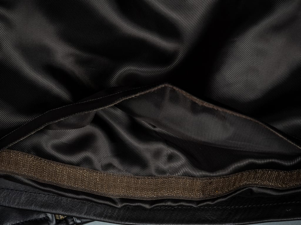 "Shangri-La Heritage ""Varenne"" Black Leather Jacket lining interior"