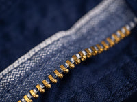 brass zip of Spellbound 43-719Z Military Tapered Chinos Blue