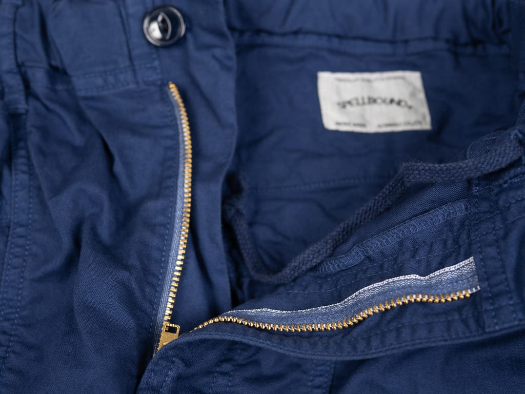brass universal zip fly of Spellbound 43-719Z Military Tapered Chinos Blue