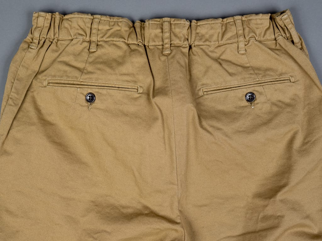 rear buttoned buttons of Spellbound 43-726T Tapered Chinos Camel