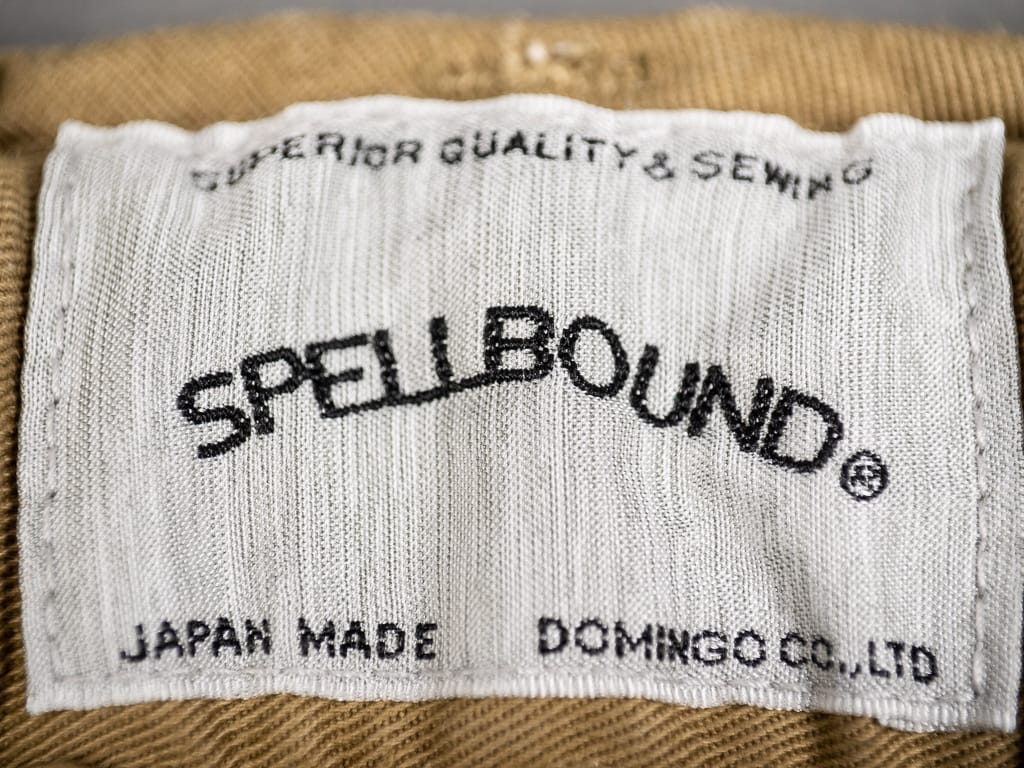 Spellbound 43-726T Tapered Chinos Camel label