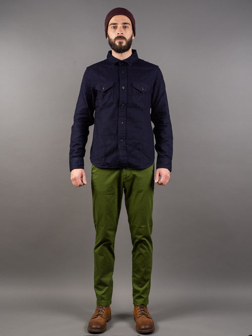 Spellbound 43-729T Tapered Chinos Olive elastic fabric