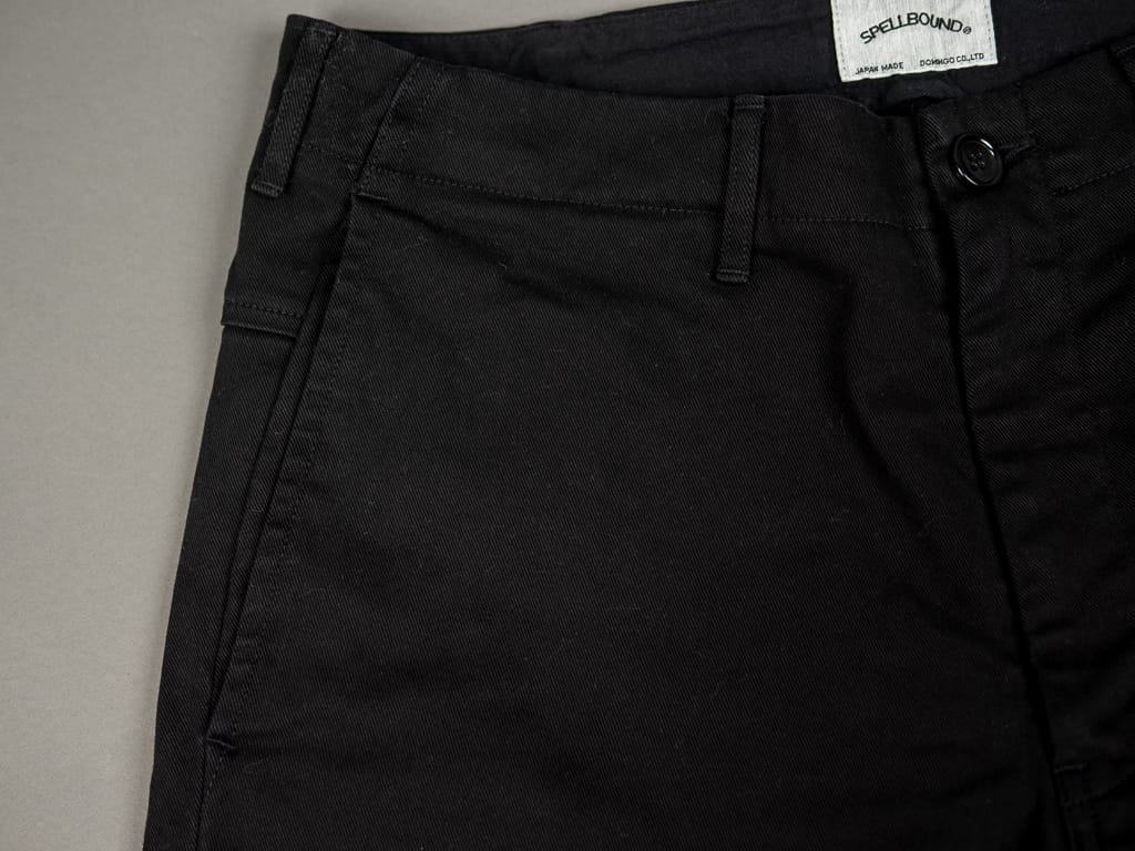 side entry pocket of Spellbound 43-745T Slim Tapered Chinos Black
