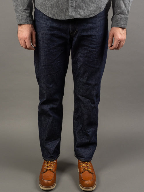 Spellbound Hard Twist Denim Straight Tapered Jeans front