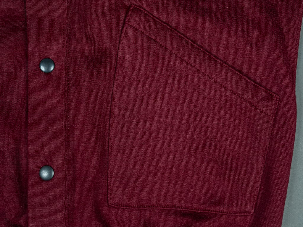 Stevenson Overall Detachable Hooded Athletic Jacket Burgundy warm pocket