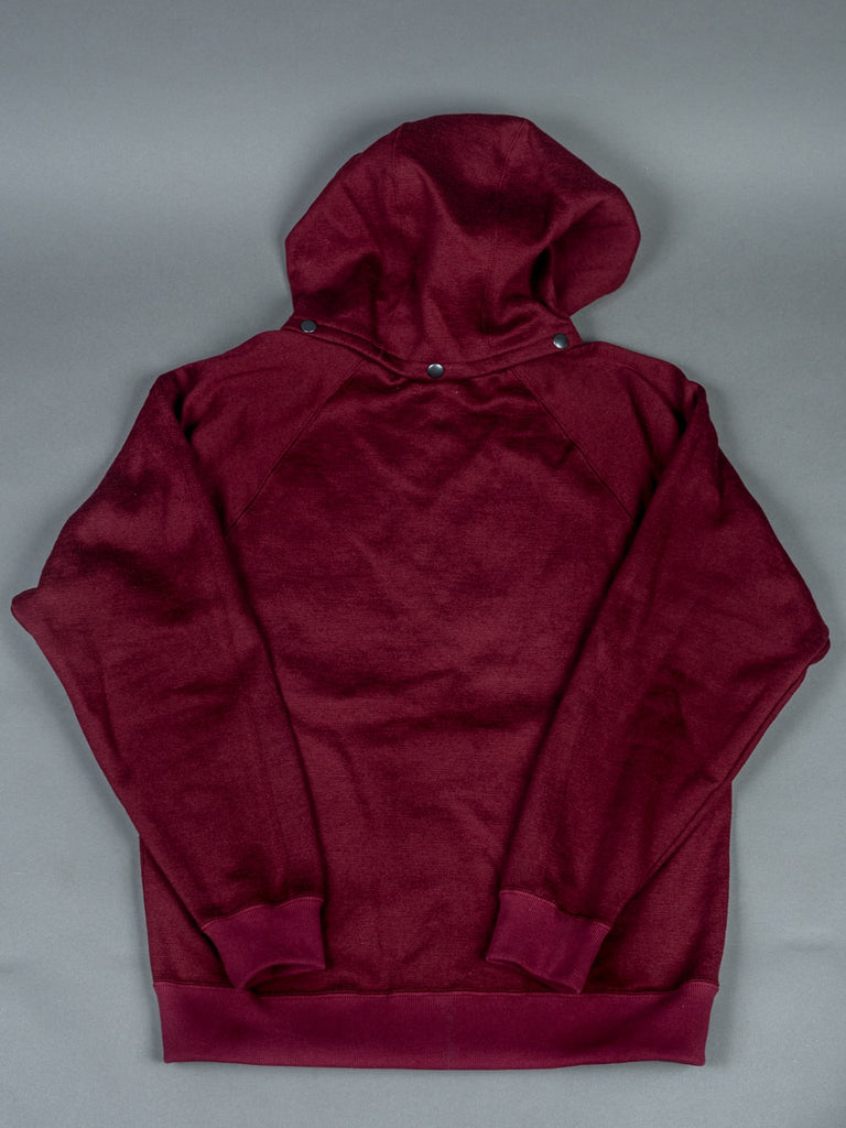 Stevenson Overall Detachable Hooded Athletic Jacket Burgundy relaxed fit