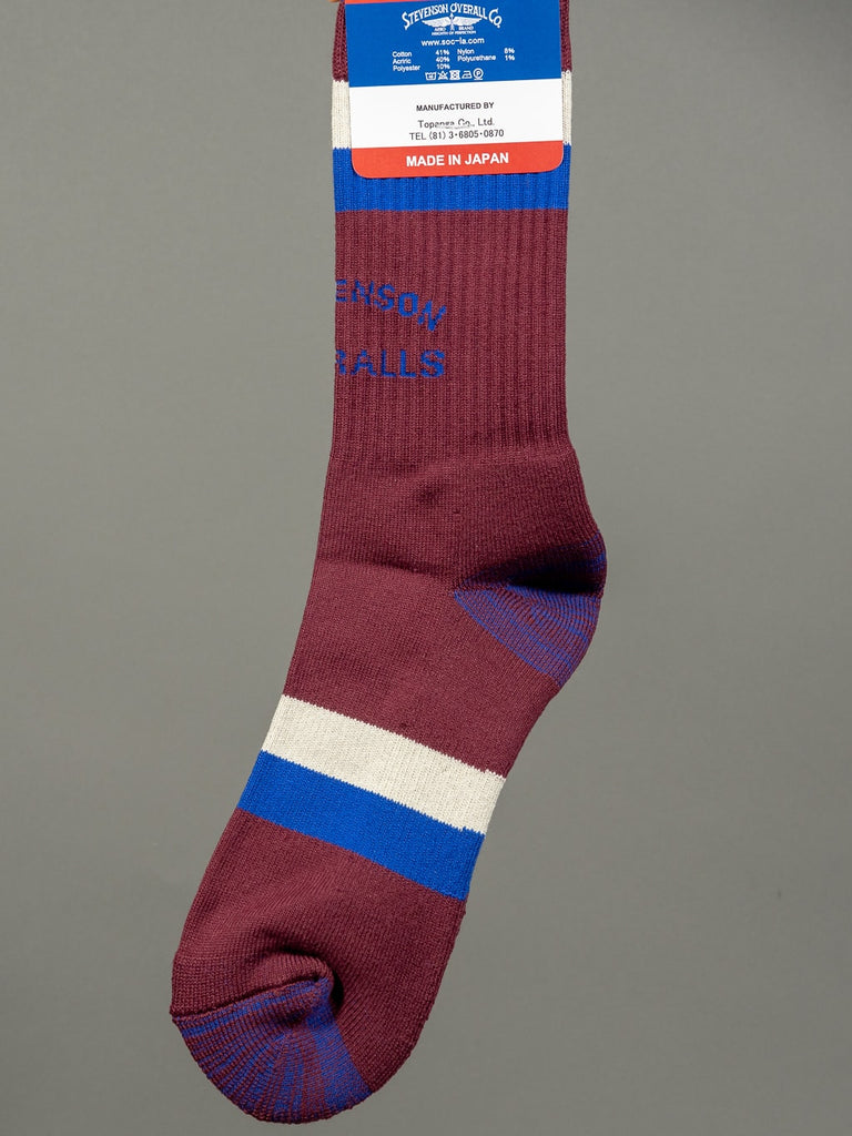 Stevenson Overall Co. Athletic Socks Burgundy