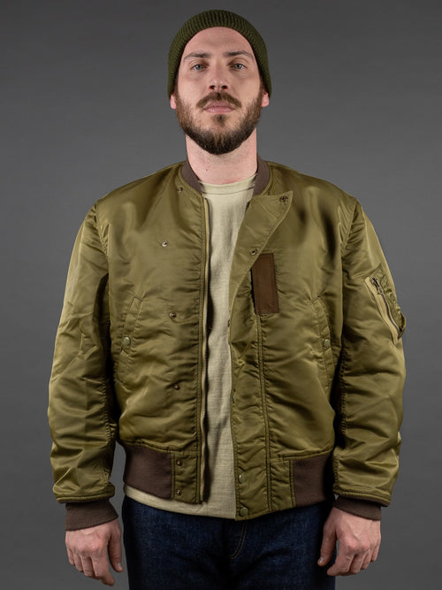 Stevenson Overall Intercepter Flight Jacket Golden Olive reversible