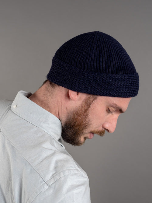 Stevenson Overall Knit Cap navy US Navy side