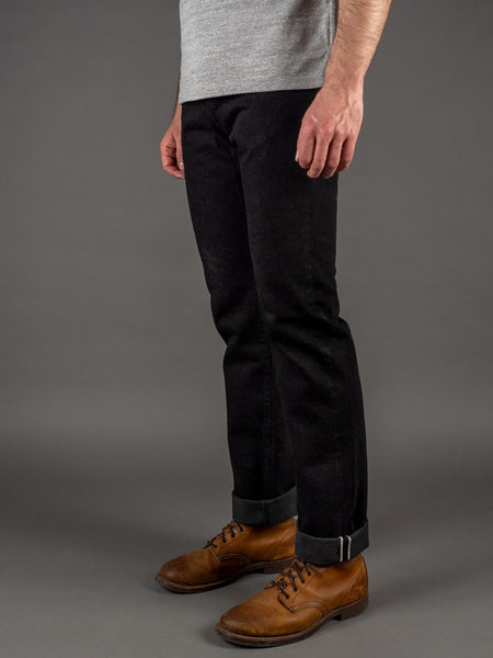 Stevenson Overall Co. La Jolla 727 Slim Tapered Black Jeans