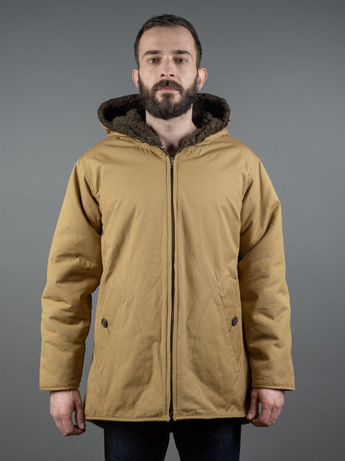 Stevenson Overall Snow Trooper Reversible khaki Parka poplin cotton
