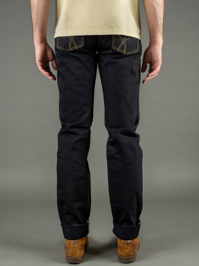 Strike Gold 5004ID Double Indigo Straight Tapered denim Jeans back