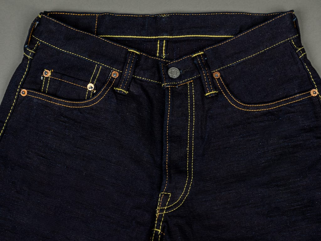 Strike Gold 5004ID Double Indigo Straight Tapered denim Jeans waist
