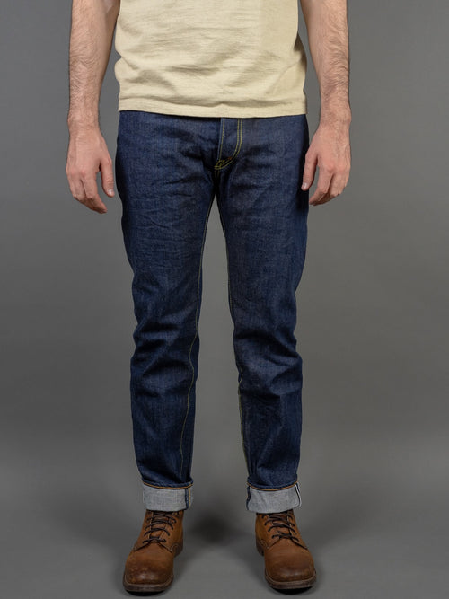 Studio D´Artisan 40th Anniversary Natural Indigo Tapered Jeans front