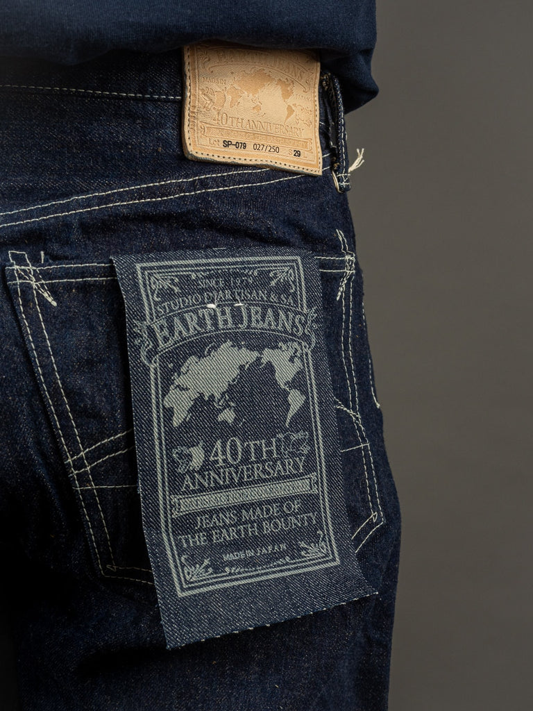 "Studio D´Artisan 40th Anniversary ""EARTH"" Limited Edition Regular Straight Jeans label"