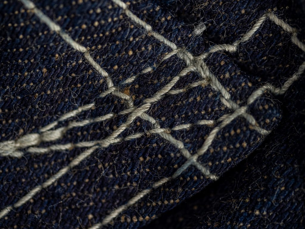 "Studio D´Artisan 40th Anniversary ""EARTH"" Limited Edition  Jeans stitching"