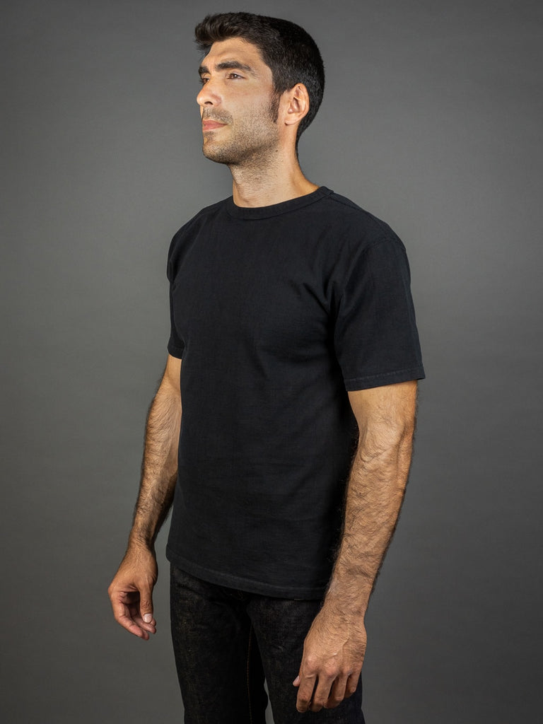 Studio D´Artisan 9913 Loopwheel T-shirt Black side