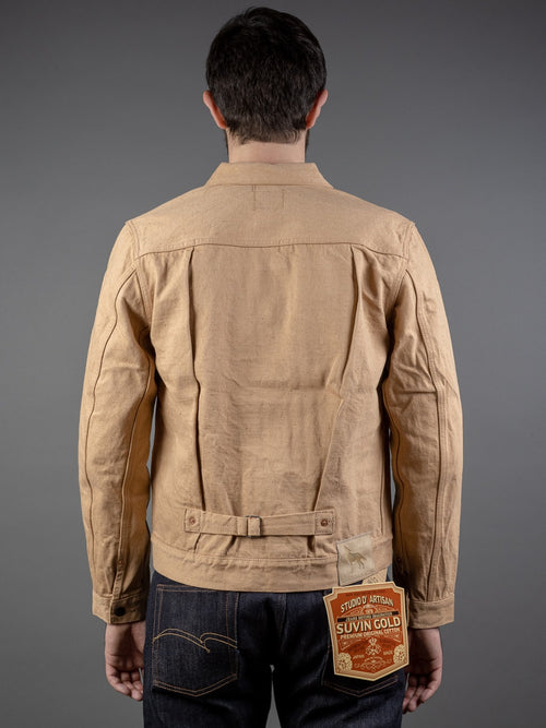 Studio D´Artisan Fox Cotton Coyote Jacket back