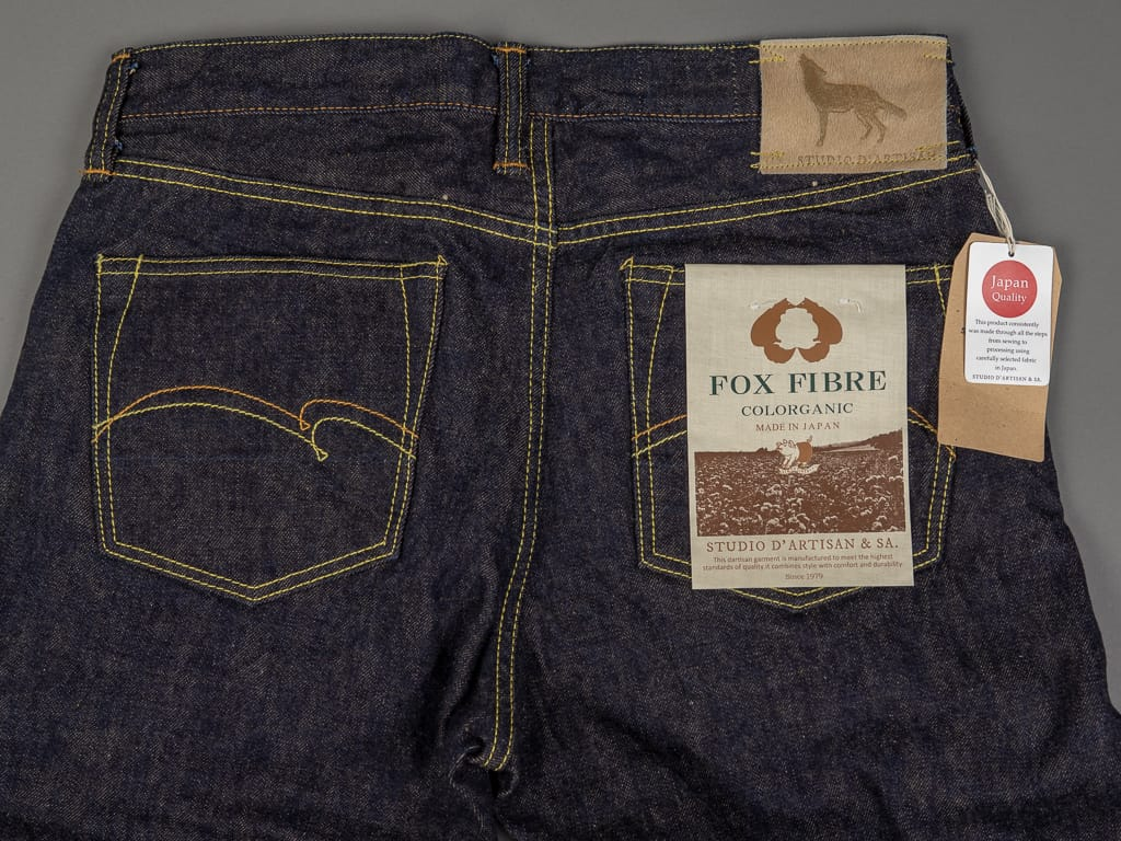 Studio D´Artisan Fox Cotton selvedge jeans back pockets